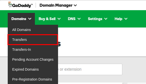 How to transfer a domain to your GoDaddy Account from