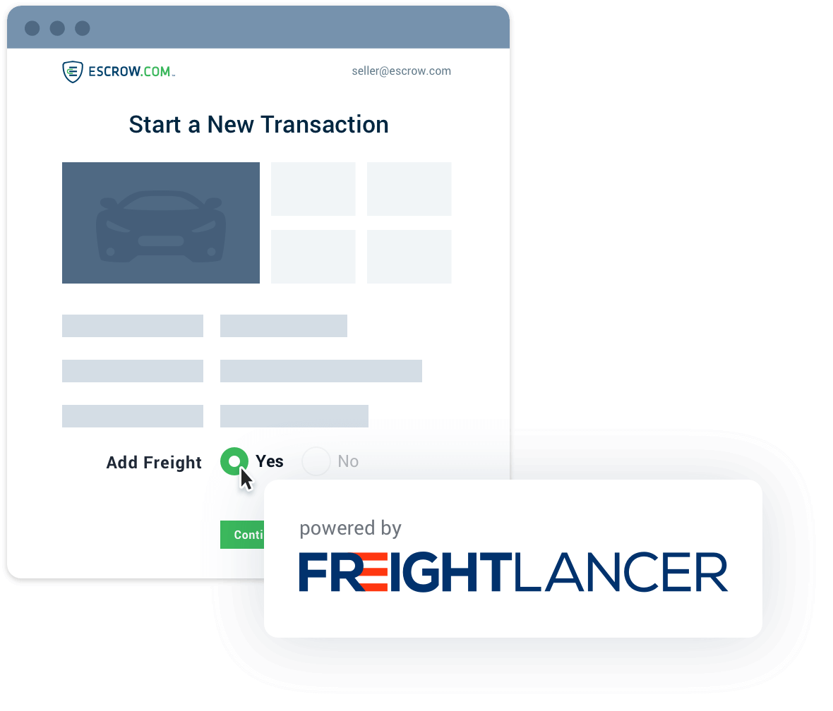 Add Freightlancer to your transaction