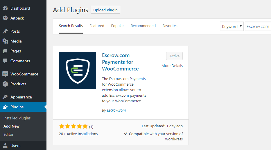 WordPress Plugin Directory Search Escrow