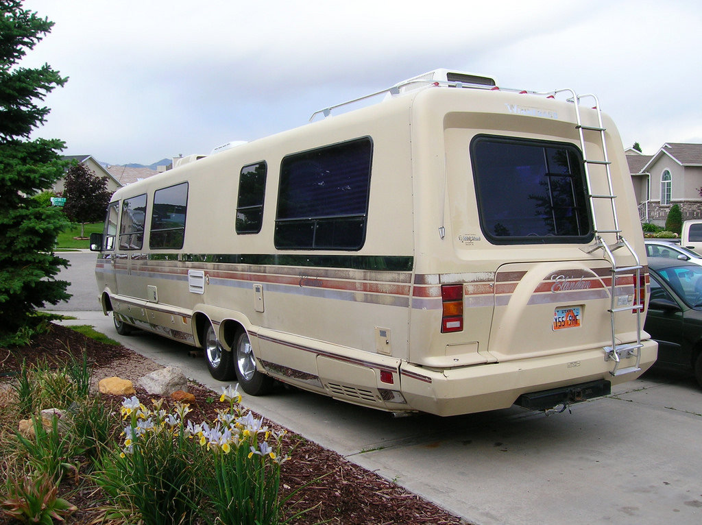 this second hand winnebago wants to to go off to adventure in luxury