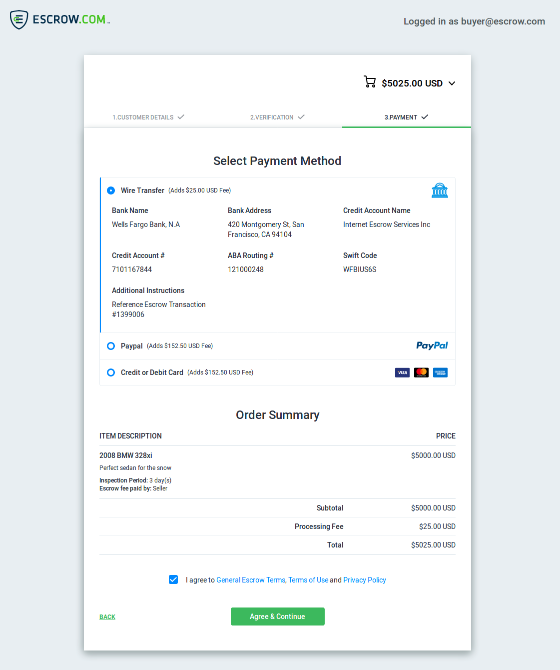 Escrow Pay is a streamlined payment system for any website